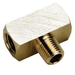 "1/8""FPT X 1/8""FPT X 1/8""MPT Brass Male Branch Tee"
