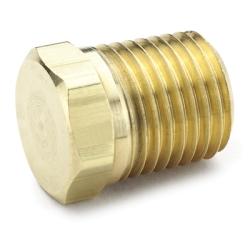"""1/4""""MPT Brass Hex Head Plug"""