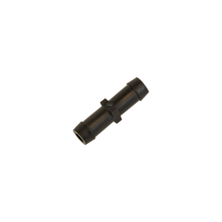 "1/8"" Hose ID x 1/8"" Hose ID Black HDPE Connector"