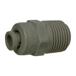 "1/4"" Tube x 3/8"" NPTF Gray Acetal Male Connector"