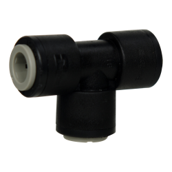 "3/8"" Tube Run x 3/8"" Tube Black Polypropylene Stem Tee"