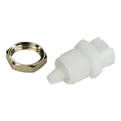 "1/8"" Hose Barb Acetal Panel Mount Coupling Body - Shutoff (Insert Sold Separately)"