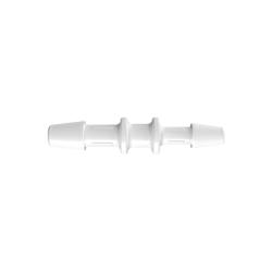 "5/32"" x 1/8"" Tube ID Natural Polypropylene Reduction Coupler"