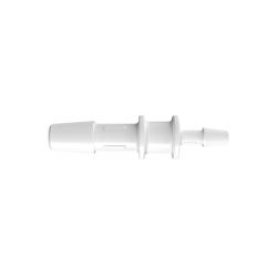 "1/4"" x 1/8"" Tube ID Natural Polypropylene Reduction Coupler"