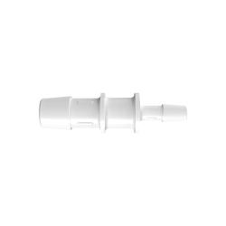 "1/2"" x 1/4"" Tube ID Natural Polypropylene Reduction Coupler"