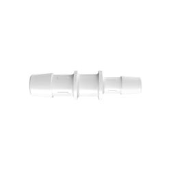 "1/2"" x 3/8"" Tube ID Natural Polypropylene Reduction Coupler"