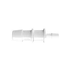 "5/8"" x 1/4"" Tube ID Natural Polypropylene Reduction Coupler"