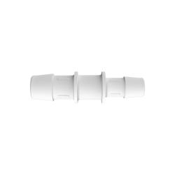 "5/8"" x 1/2"" Tube ID Natural Polypropylene Reduction Coupler"