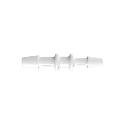 "5/32"" x 1/8"" Tube ID Natural Kynar® Reduction Coupler"