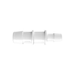 "3/4"" x 1/2"" Tube ID Natural Kynar® Reduction Coupler"