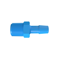 "3/8"" NPT x 3/8"" Hose Barb Eldon James™ Antimicrobial HDPE Adapter"