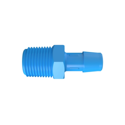 "1/2"" NPT x 1/2"" Hose Barb Eldon James™ Antimicrobial HDPE Adapter"