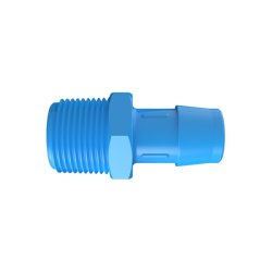 "3/4"" NPT x 3/4"" Hose Barb Eldon James™ Antimicrobial HDPE Adapter"