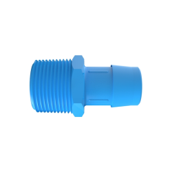 "1"" NPT x 1"" Hose Barb Eldon James™ Antimicrobial HDPE Adapter"