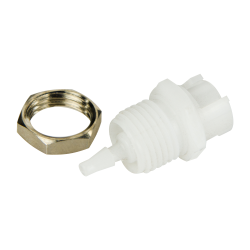 3mm Hose Barb Acetal Panel Mount Coupling Body - Shutoff (Insert Sold Separately)