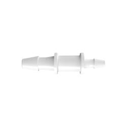 "1/16"" x 3/32"" Tube ID Natural Polypropylene Reduction Coupler"