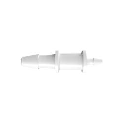 "1/16"" x 1/8"" Tube ID Natural Polypropylene Reduction Coupler"