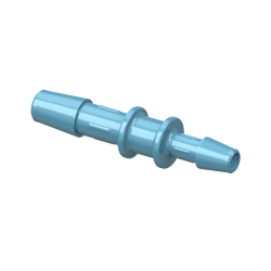 "3/8"" x 1/4"" Polypropylene Antimicrobial Reduction Coupler"