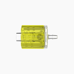 "1/16"" Hose Barb Male Rotating Lock & Nut Assemblies - Yellow"