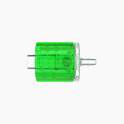 "1/16"" Hose Barb Male Rotating Lock & Nut Assemblies - Lime"