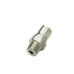 "1/4"" Tube x 1/4"" NPT Nickel-Plated Brass Male Connector"