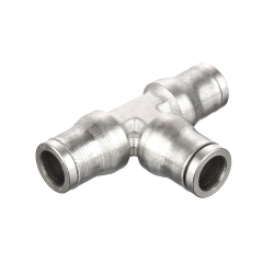 "1/4"" Tube Nickel-Plated Brass Union Tee"