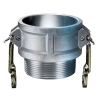 "4"" Female Coupler x 4"" MNPT Aluminum Coupling"
