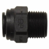 "1/4"" Tube OD x 1/8"" MNPTF Black PP Connector"