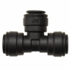 "1/4"" Tube OD Black PP Union Tee"