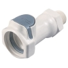 "3/8"" NPT HFC 35 Series Polysulfone Male Coupling Body - Shutoff (Insert Sold Separately)"