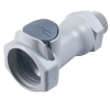 "1/2"" NPT HFC 12 Series Polypropylene Coupling Body - Straight Thru (Insert Sold Separately)"