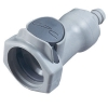 "1/2"" In-Line Hose Barb HFC 12 Series Polypropylene Coupling Body - Shutoff (Insert Sold Separately)"