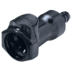 "3/8"" In-Line Hose Barb HFC 57 Series Polysufone Coupling Body - Straight Thru (Insert Sold Separately)"