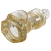"1/4"" In-Line Hose Barb HFC 39 Series Polysulfone Coupling Body - Shutoff (Insert Sold Separately)"