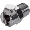 "1/8"" NPT In-Line MC Series Chrome Plated Brass Body - Shutoff (Insert Sold Separately)"