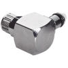 "5/32"" Ferruleless MC Series Chrome Plated Brass Elbow Insert - Shutoff (Body Sold Separately)"