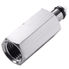 "1/8"" FNPT In-Line MC Series Chrome Plated Brass Insert - Shutoff (Body Sold Separately)"