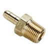 ".170""ID Tube X 1/4""MNPT Dubl-Barb®  Brass Male Connector"
