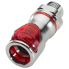 "3/8"" MNPT LQ6 Chrome Plated Brass Valve Body - Red (Insert Sold Separately)"