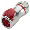 1/2 SAE-06 LQ6 Chrome Plated Brass Valve Body - Red (Insert Sold Separately)