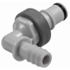 "3/8"" ID In-Line Hose Barb Polypropylene Non-Spill Elbow Insert (Body Sold Separately)"