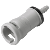 "1/8"" In-Line Hose Barb NS212 Series Non-Spill Polypropylene Valved Coupling Body (Insert Sold Separately)"