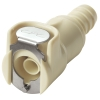 "3/8"" In-Line Hose Barb Polypropylene Puncture Seal Coupling Body - Shutoff"