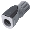 "1/8"" OD In-line with a 1/4-28 Flat Bottom Port NS1 Series Polypropylene Coupling Body (Insert Sold Separately)"