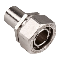 "3/4"" D1 x 3/4"" Tube Duratec® Nickel Plated Brass Adapter"
