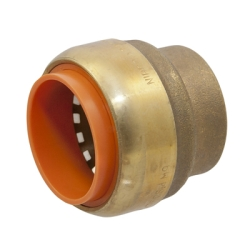 "1/2"" Push-to-Connect Lead-Free Brass Push Cap"