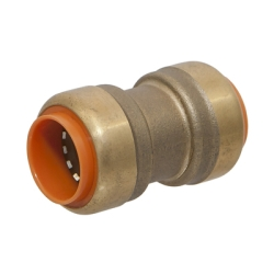 "1/2"" Push-to-Connect Lead-Free Brass Push Coupling"