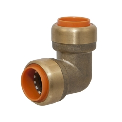 "1/2"" Push-to-Connect Lead-Free Brass Push Elbow"