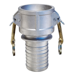 "1/2"" Female Coupler x 1/2"" Hose Shank Aluminum Coupling"