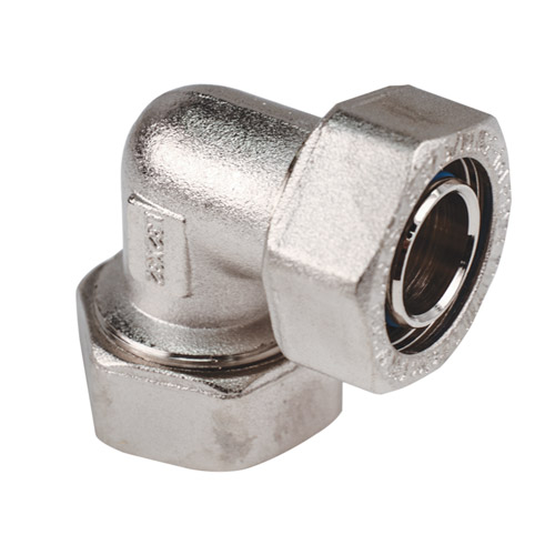 "1"" D1 x 1"" D1 Duratec® Nickel Plated Brass 90° Elbow"